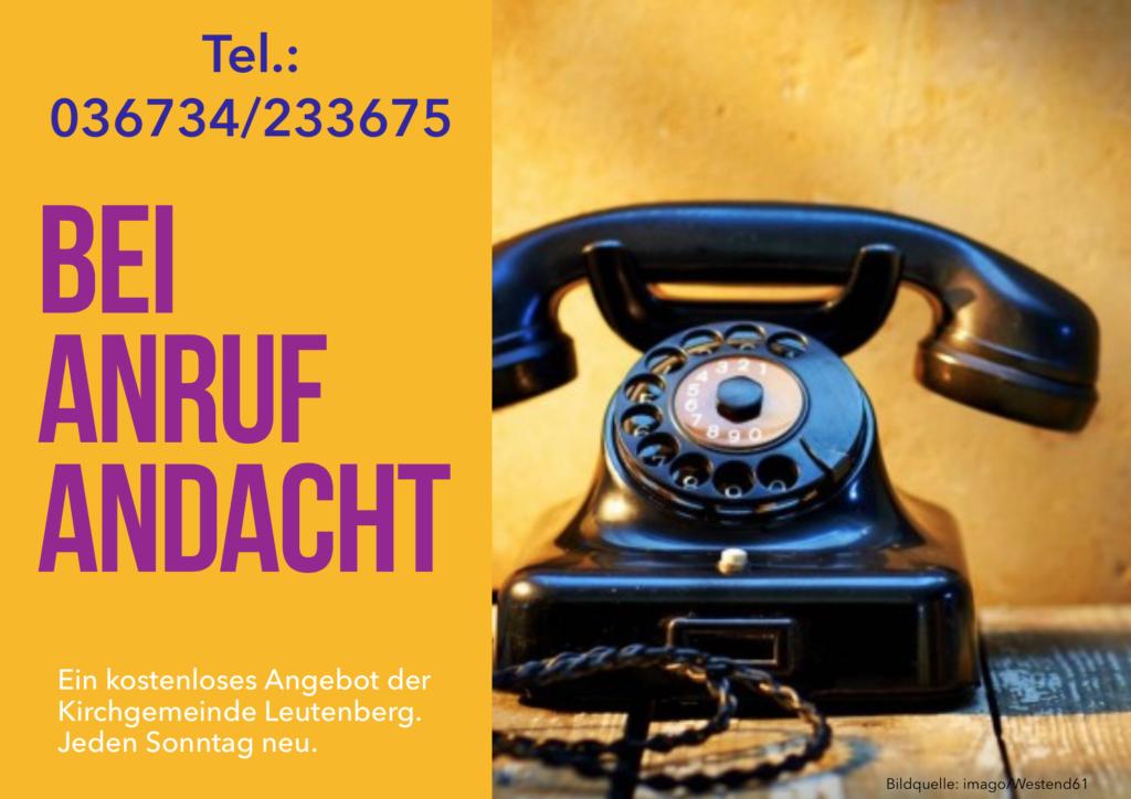 Plakat der Telefonandacht