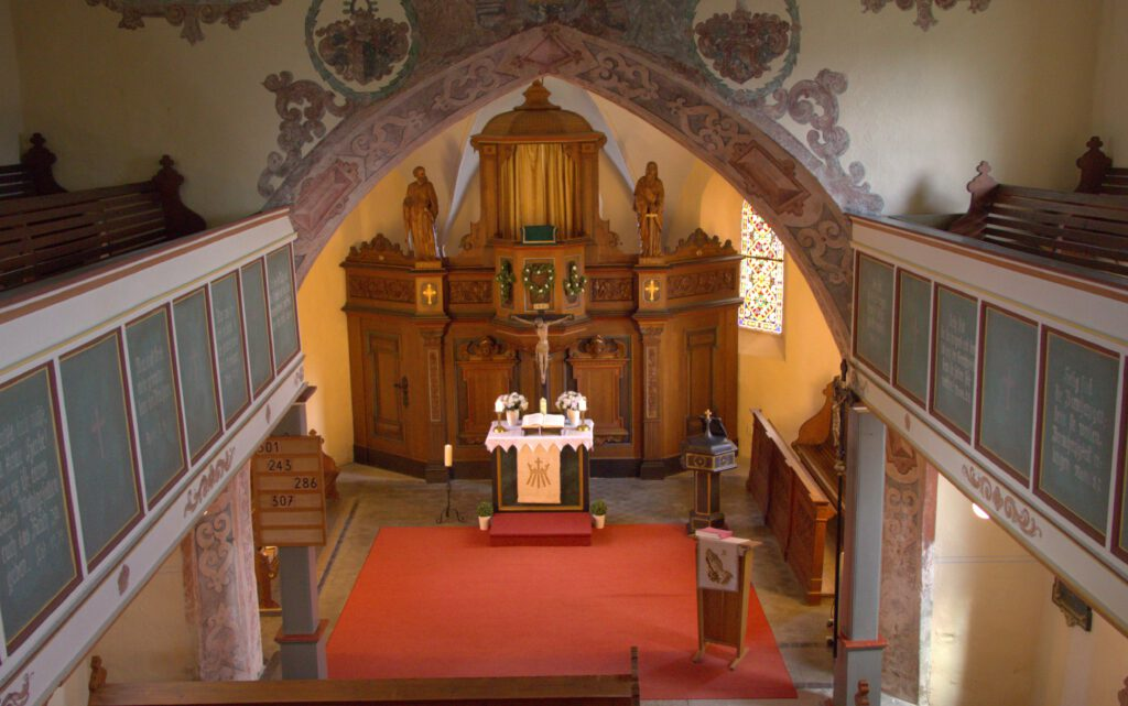 Altar der Kirche Schmiedebach