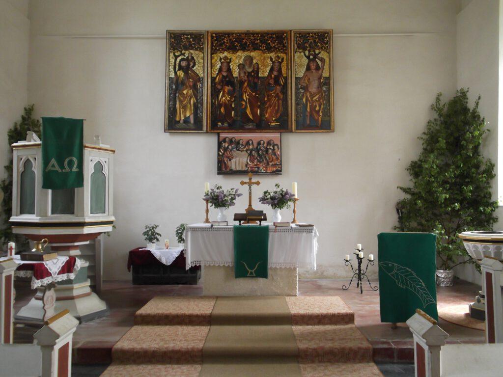 Altar der Kirche Schweinbach